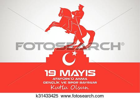 Clipart of May 19 Ataturk Commemoration k31433425.