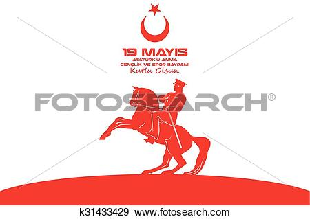 Clip Art of May 19 Ataturk Commemoration k31433429.