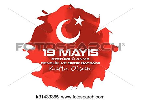 Clipart of May 19 Ataturk Commemoration and Yo k31433365.