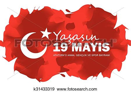 Clip Art of May 19 Ataturk Commemoration and Yo k31433319.