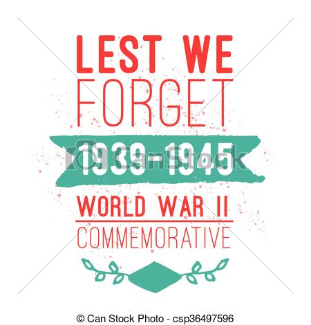 EPS Vectors of World war II commemorative day. Vector design.