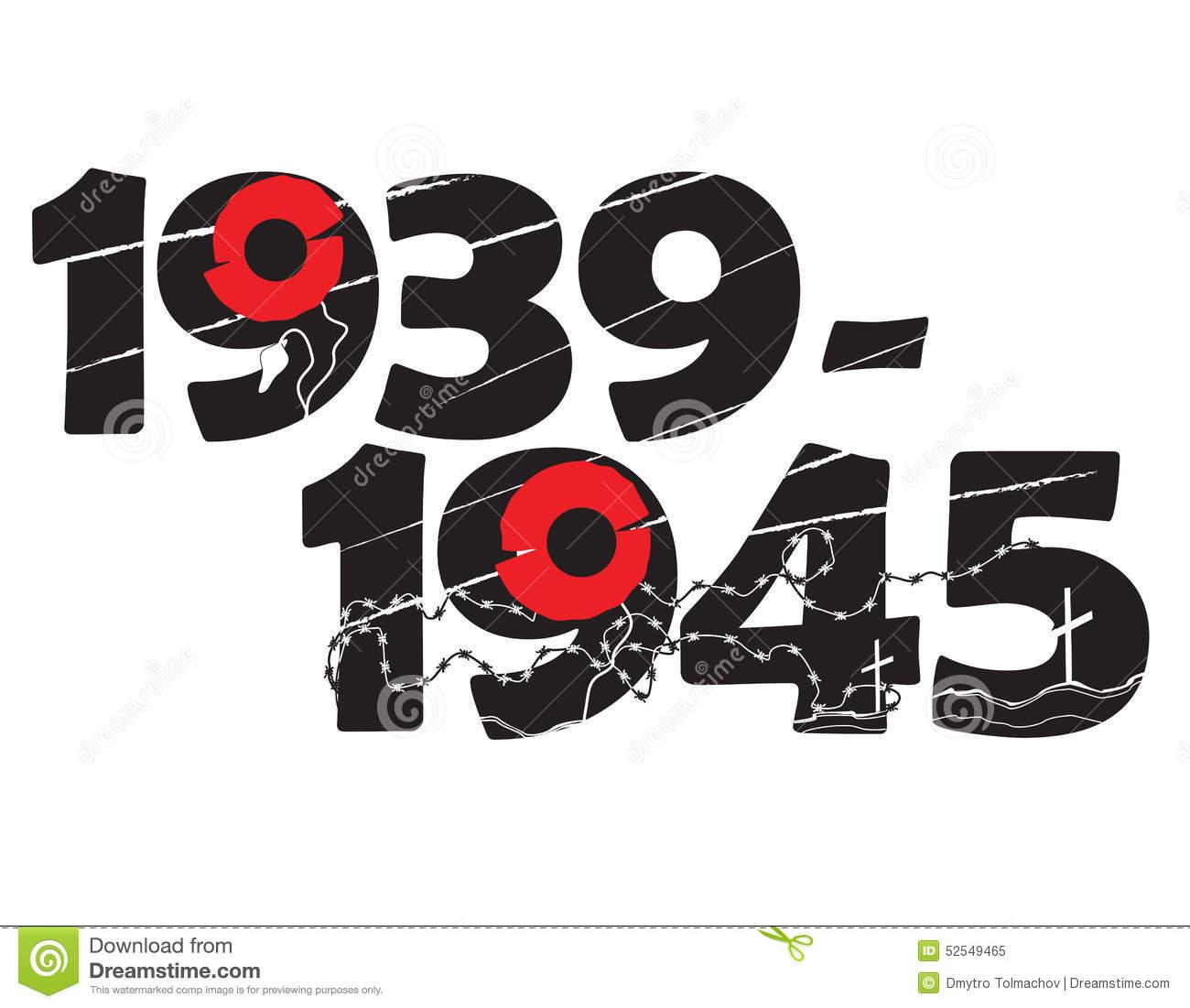 World War 2 Commemorative Symbol Stock Vector.