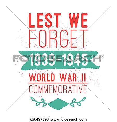 Clip Art of World war II commemorative day. Vector design.