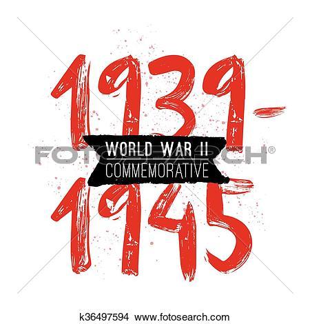 Clipart of World war II commemorative day. Vector design.