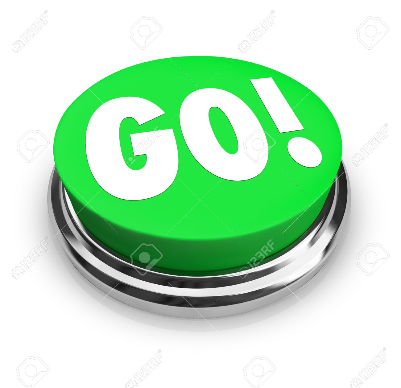 The Word Go On A Big Round Green Button To Represent Starting.