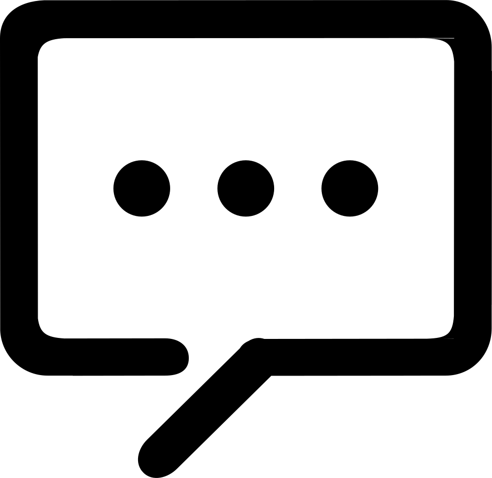 Black Comments Icon.