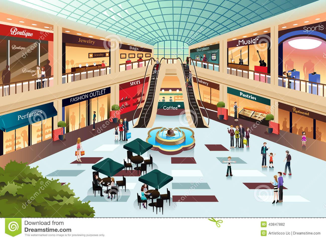 Shopping Stock Illustrations.