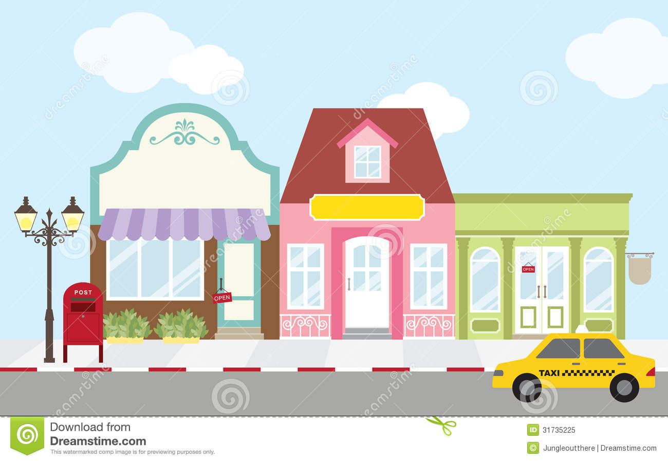Shopping street clipart - Clipground