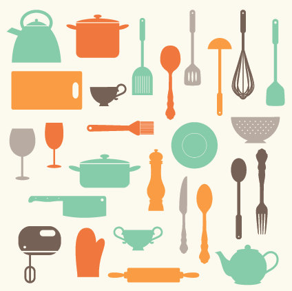 Kitchen Baking Utensils Clip Art Clipart Set Personal and.