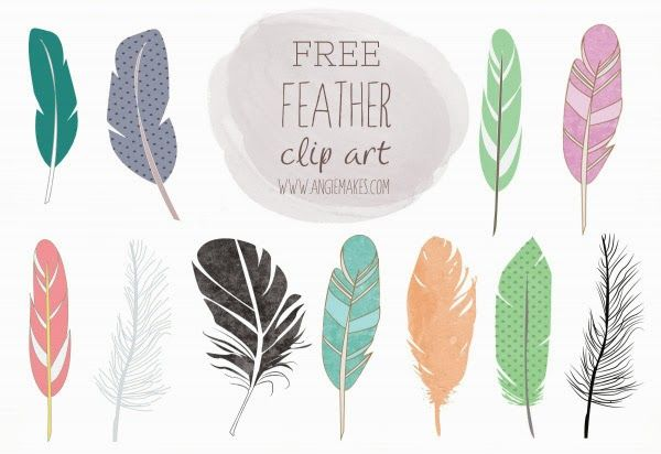 commercial use feather clip art, free feather clip art.