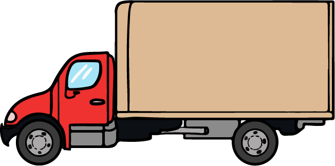 Commercial truck clipart.