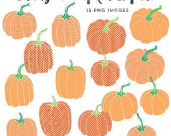 Watercolor Graphics, Pumpkin Clipart, Fall Clip Art, Instant.