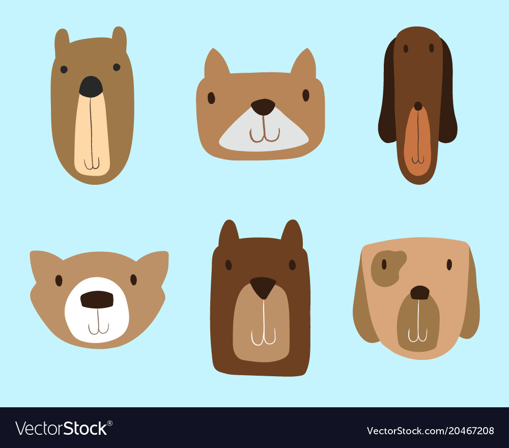 Dogs clipart set for commercial use.