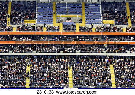 Pictures of Soccer fans sitting in stadium, Commerzbank Arena.