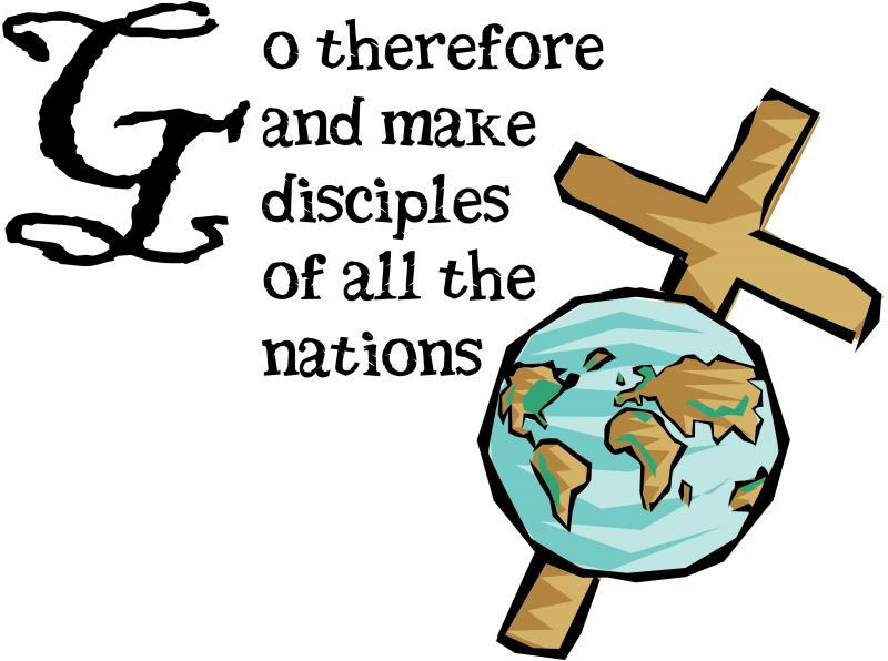 Great commission clipart.