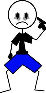 Suicide Cartoon Clipart Image.