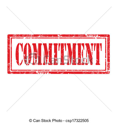 Vector Clipart of Commitment.