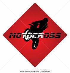 A Silhouette Of A Motorcycle Racer Commits High Jump; Royalty Free.