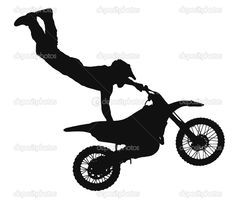 Dirt Bike Rider Cartoon · Biker Clip Art Vector · Silhouette Of A.