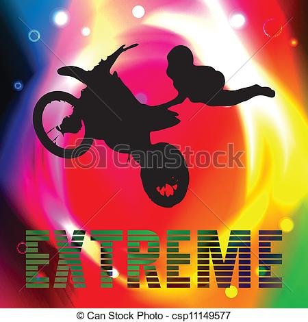 Vectors Illustration of Motorcycle racer what commits high.