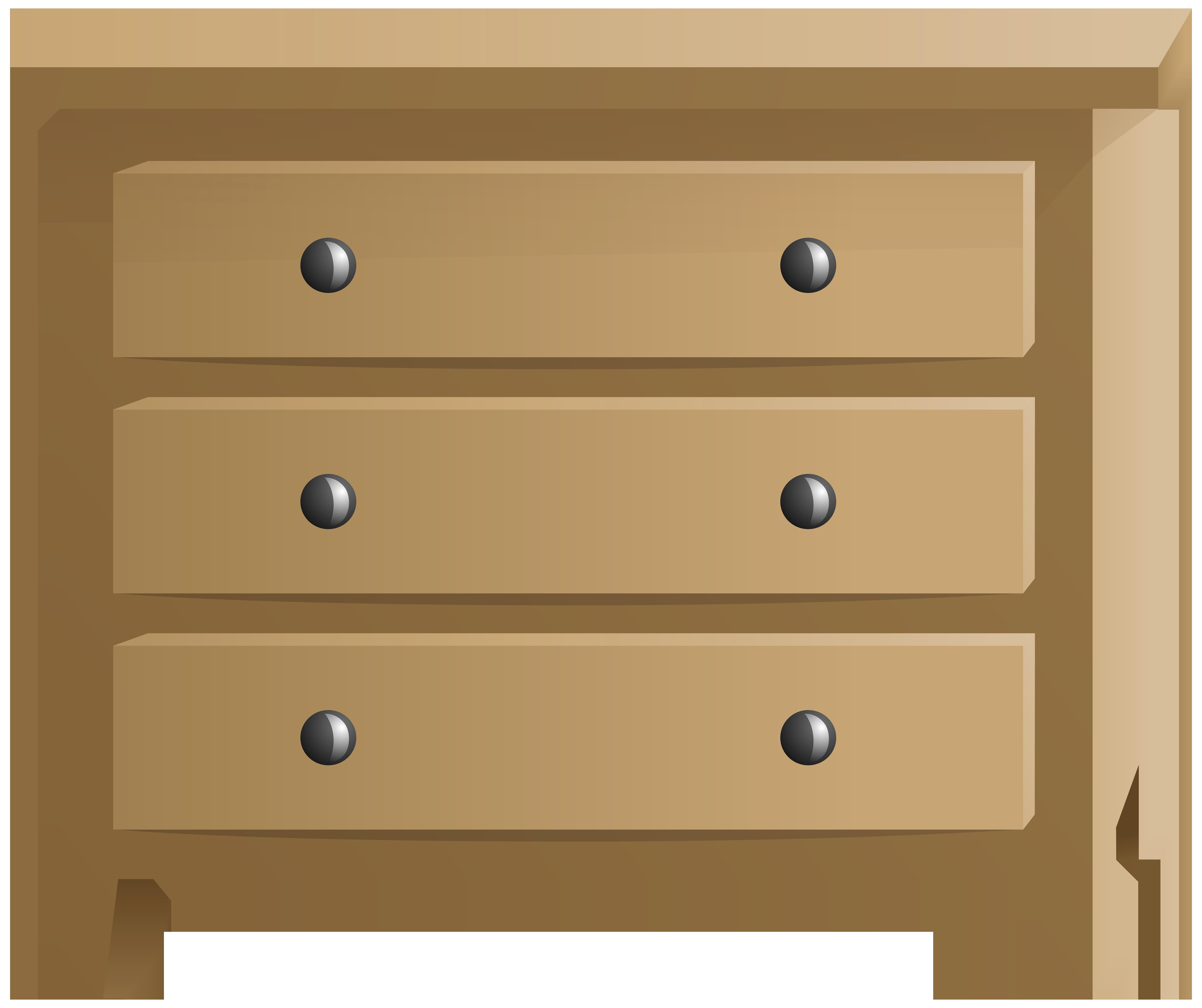 Wooden Commode Transparent PNG Clip Art Image.
