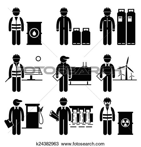 Clipart of Commodities Energy Fuel Power k24382963.