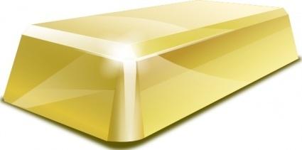 Rich Cartoon Money Metal Gold Blocks Block Wealth Finance.