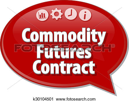 Clipart of Commodity Futures Contract Business term speech bubble.