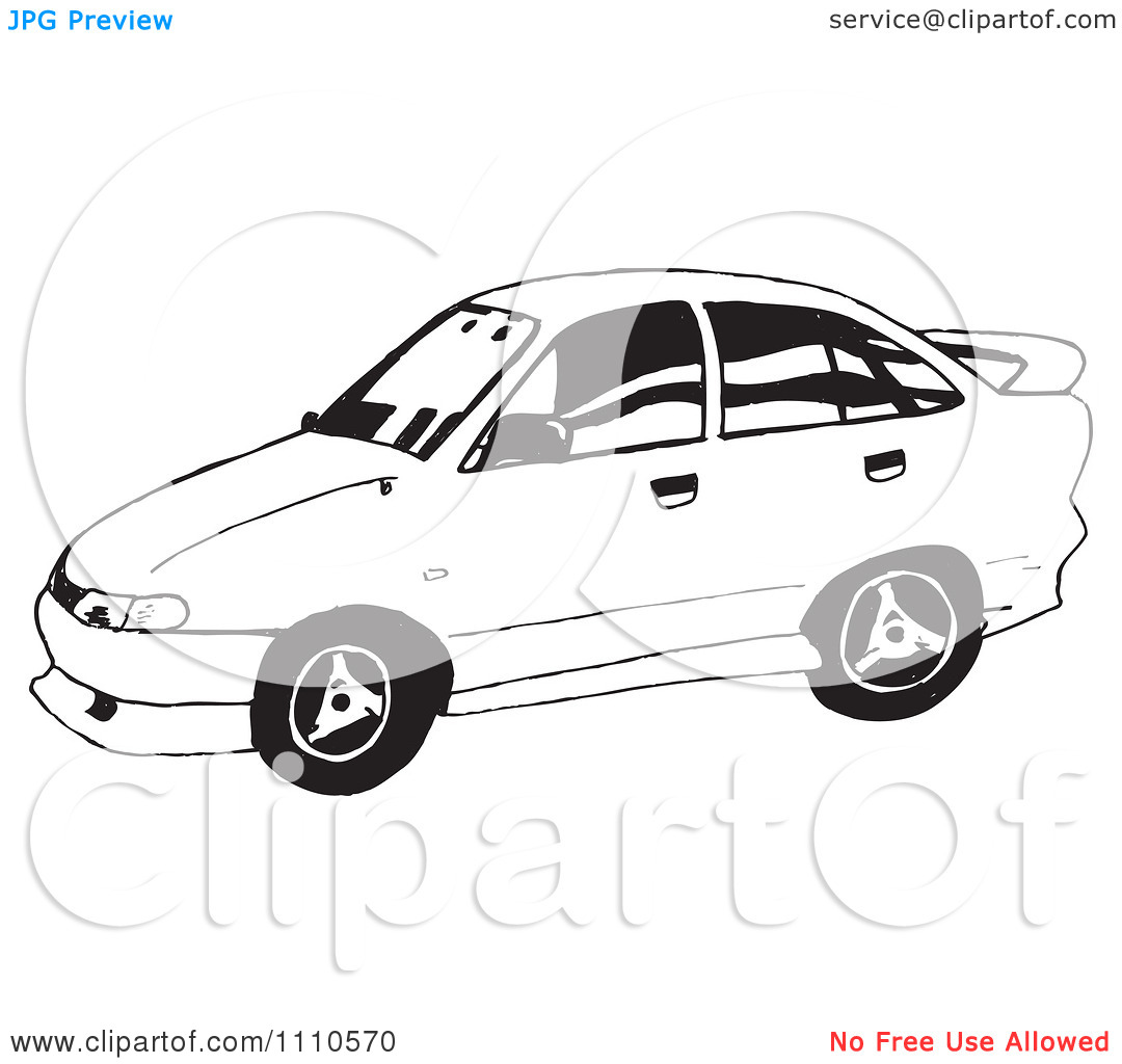 Clipart Black And White Holden Commodore Car.