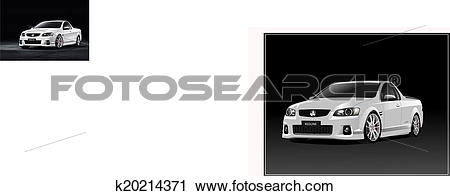 Clipart of Holden Commodore VE SS Ute k20214371.