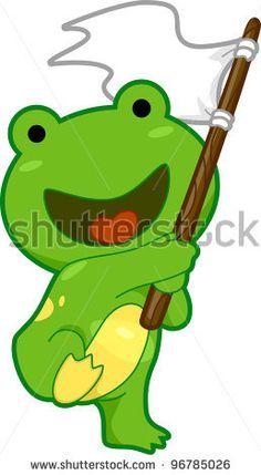 Relaxing Frog Stock Illustrations, Vectors, & Clipart.