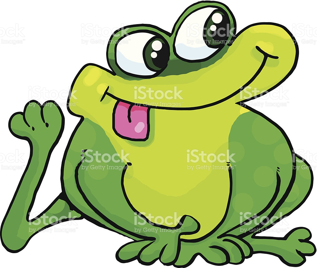 Silly Frog stock vector art 450997801.