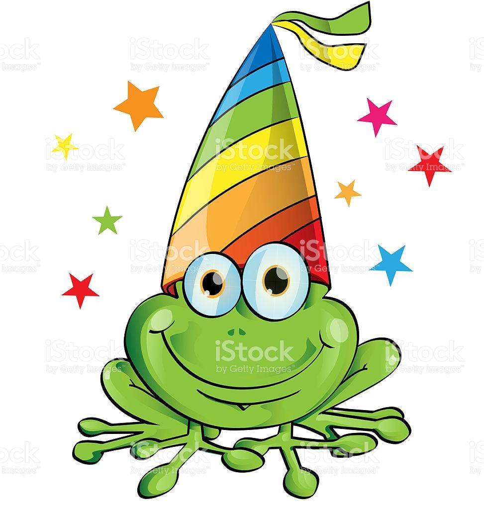 Crazy Frog Party Cartoon stock vector art 468140801.