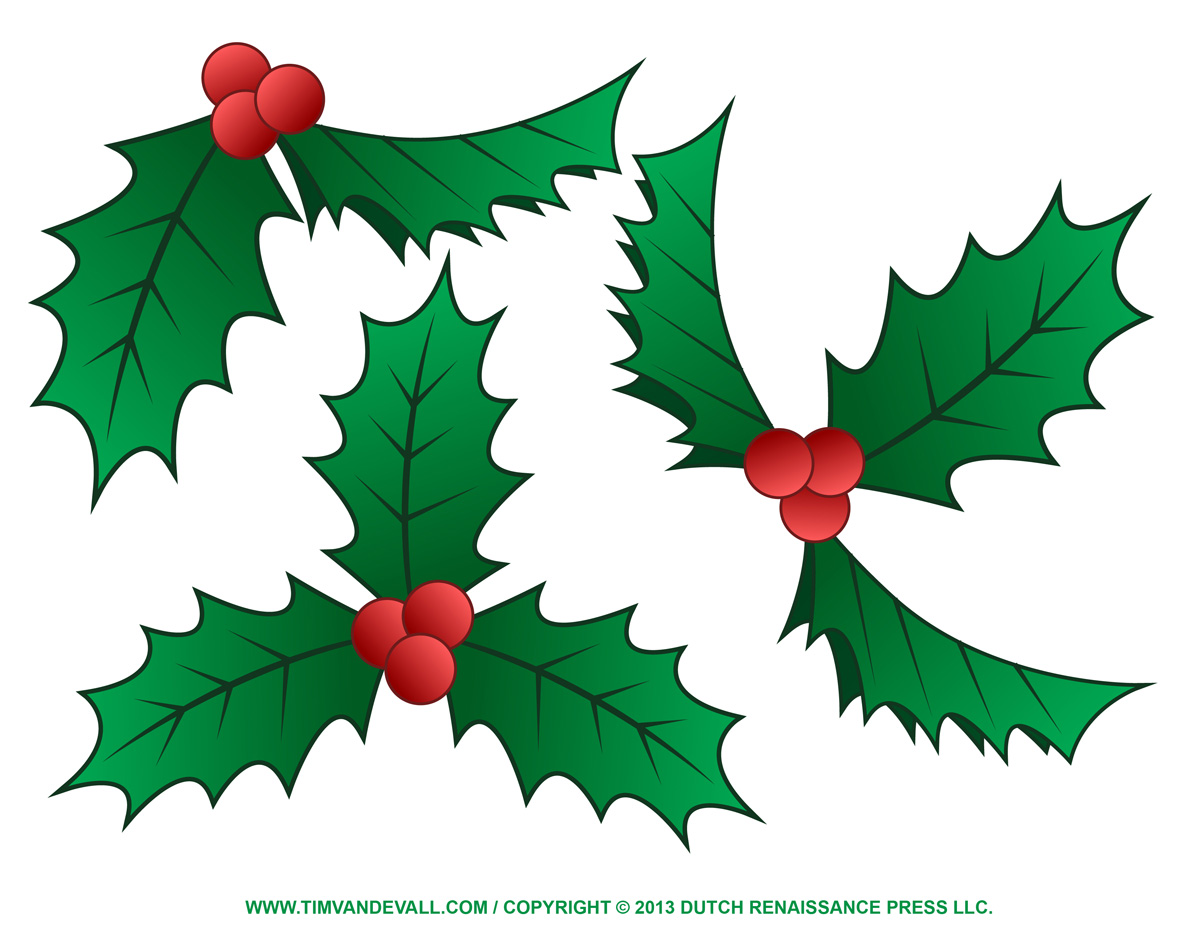 Common Holly Clipart - Clipground