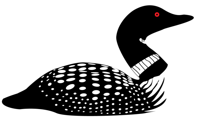 Common loon Drawing Silhouette Clip art.