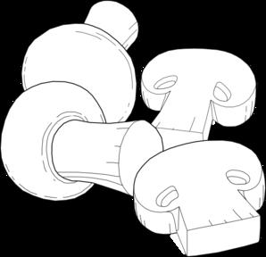 Mushrooms Outline Clip Art at Clker.com.