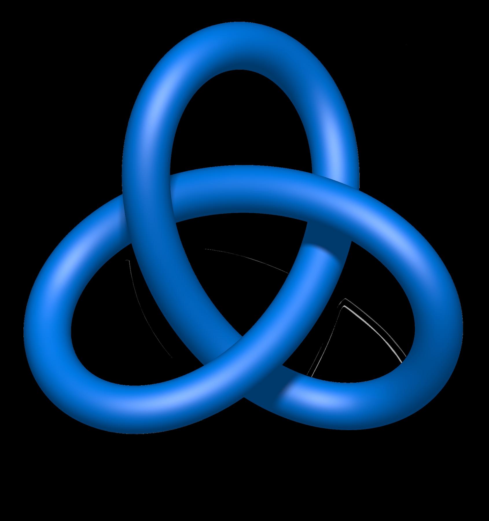 File:Blue Trefoil Knot.png.