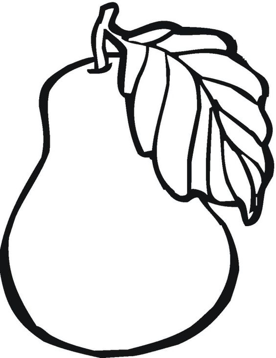 Fruit pear coloring page.