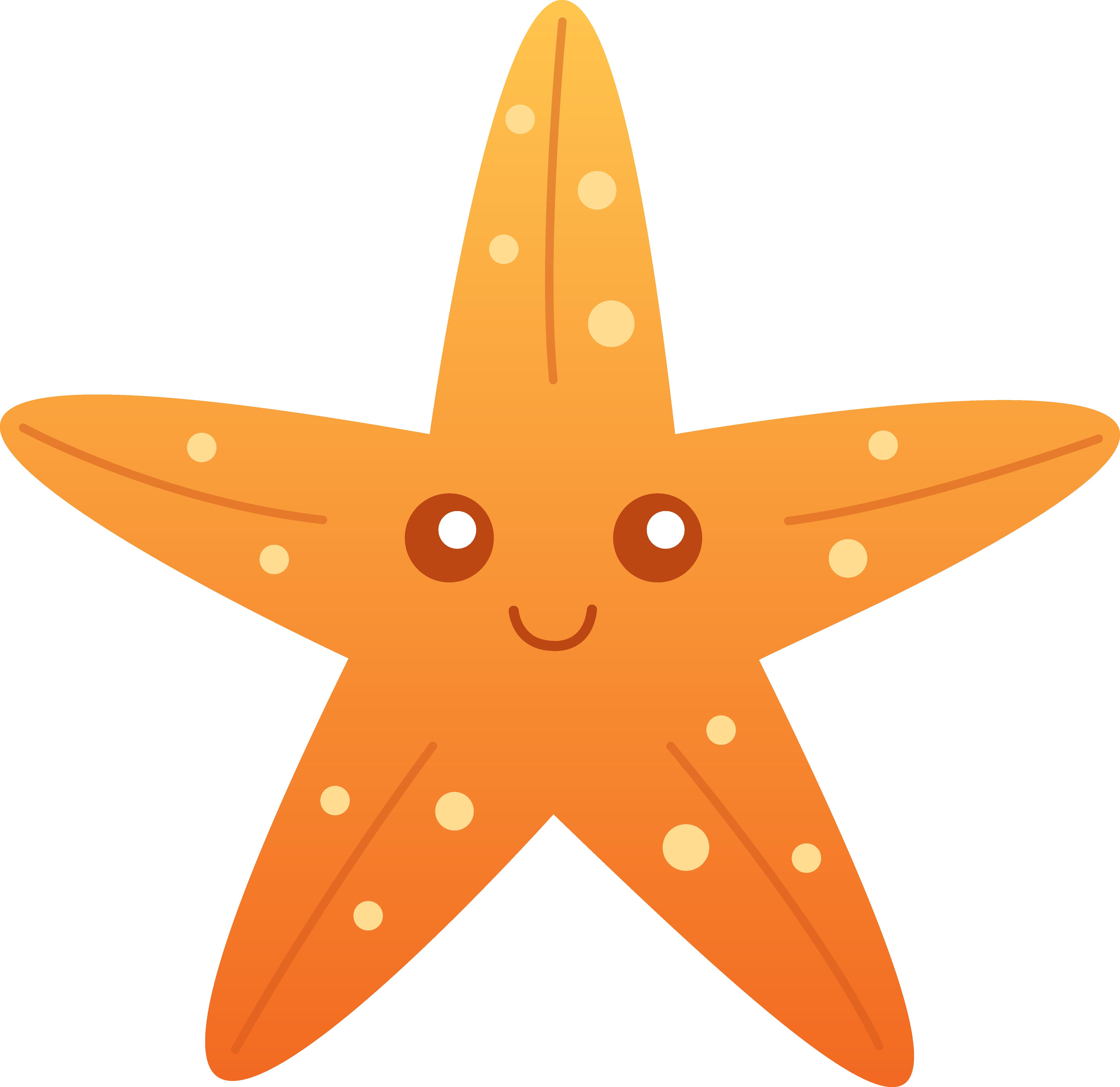 Realistic sea star clipart.