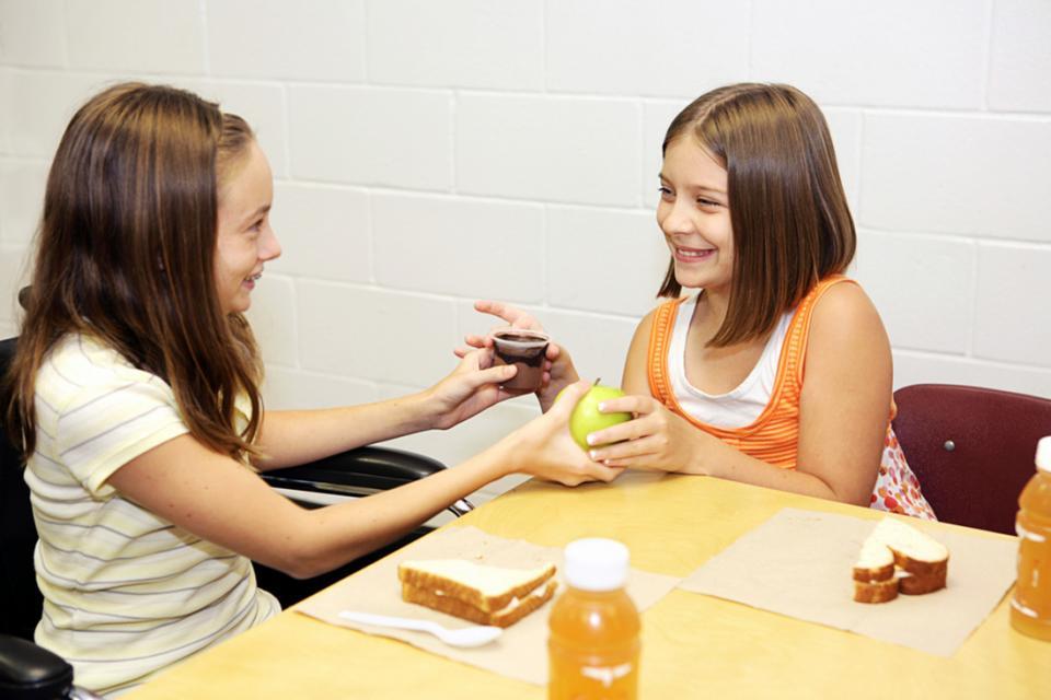 Kids sharing school clipart.