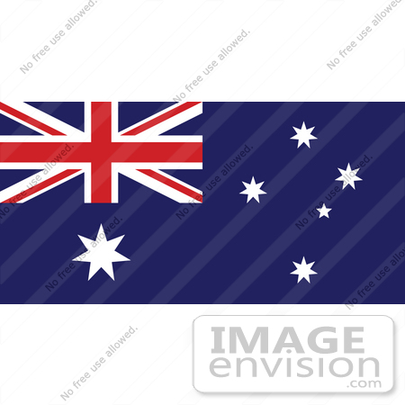 Clip Art Graphic of the The Commonwealth Star, Southern Cross.