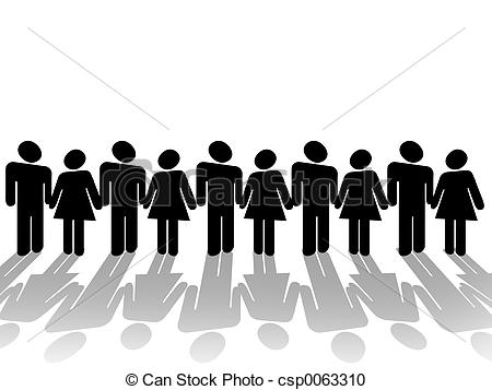Stock Illustration of Community Gathering Clipart csp0063310.