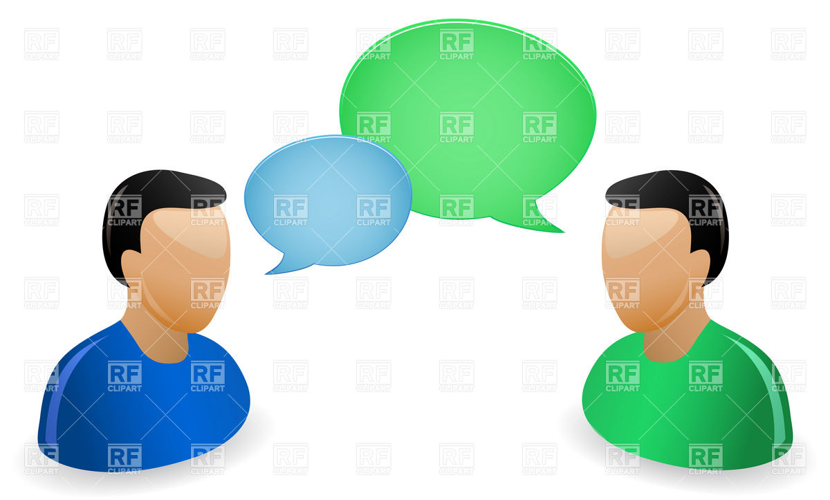 Icons of communicating people with speech bubbles Stock Vector Image.