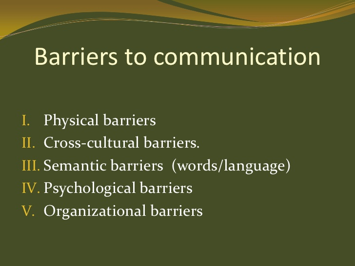 barriers.