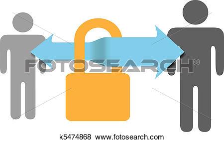 Clip Art of Secure communications data safe security lock k5474868.