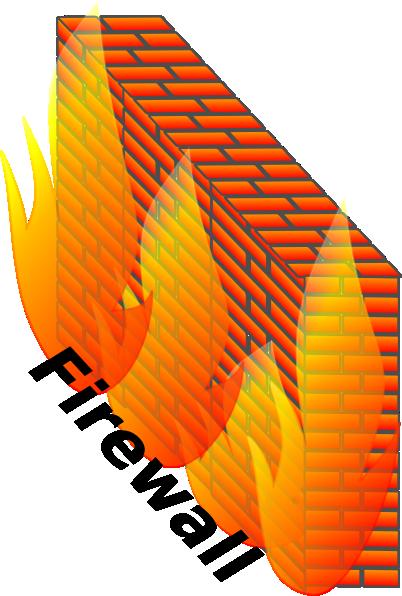 Firewall Network Block Communication Data clip art Free Vector.