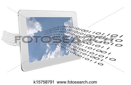 Clipart of Data stream.