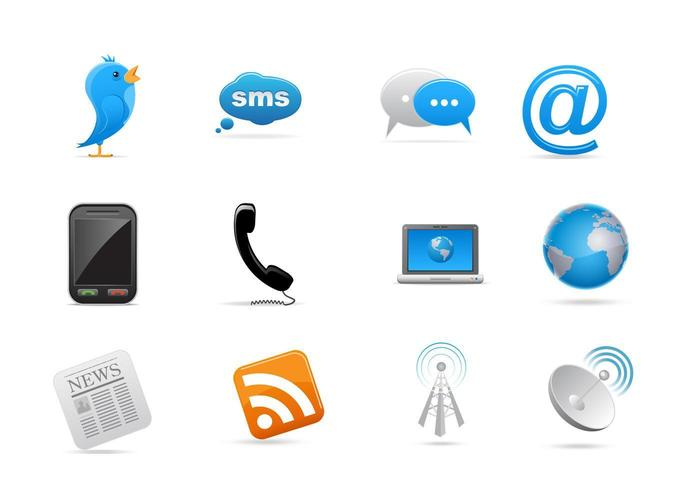 Communication Icon Vector Pack.