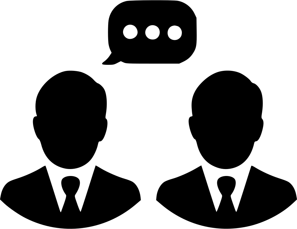 Men Talking Chat Communication Svg Png Icon Free Download (#504771.