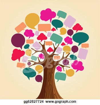 Tree network clipart.